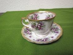 vintage OLD GOLD'S JAPAN  Tea Cup  and Saucer  Set *** Hand painted  footed cup , gold trim by mauryscollectibles on Etsy