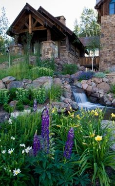 63 Relaxing Garden And Backyard Waterfalls | DigsDigs. You have to scroll through all of them as they are so amazingly beautiful. I sat for 10 minutes trying to pick my favorite as the 'pin photo'.