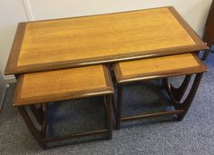 Vintage Midcentury Modern 1970s G-Plan Astro Nest of 3 Teak Coffee Tables
