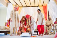 Bright Indian Fusion Wedding at Loews Don Cesar | Tracie Domino Events | Wedding Planners Tampa