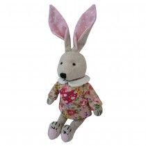 Patchwork Rabbit with Love Heart Dress