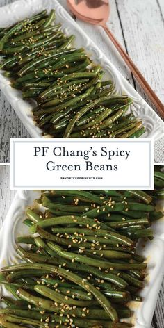 PF Chang's Spicy Green Beans are an easy and flavorful side dish recipe. Just 6 … PF Chang's Spicy Green Beans are an easy and flavorful side dish recipe. Just 6 ingredients for the best green bean recipe! Asian Side Dishes, Veggie Side Dishes, Vegetable Dishes, Side Dish Recipes, Food Dishes, Good Side Dishes, Indian Vegetable Side Dish, Veggie Recipes Sides, Best Vegetable Recipes