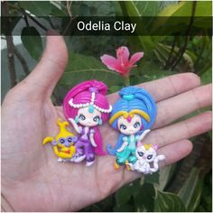 2d doll clay SHIMMER AND SHINE. its about 5cm tall. Back flat for bow and neckclace   worldwide shipping