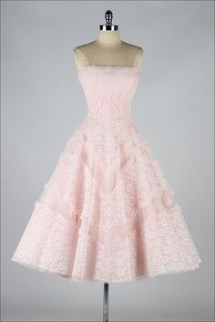 1960s Dress // Vintage 60s Dress // Vintage Peachy Pink Party Dress With Bow Size S. $248.00, via Etsy. @ http://womenapparelclothing.com #dress #clothing #womensdress