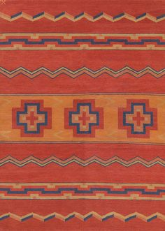 LW12B, red/pumpkin – Southwestern rugs, Luxury Lodge comes to life in this imaginative collection. Traditions of the past meet modern needs for quality, beauty and comfort in these unique and timeless designs inspired by Native American motifs from the American Southwest. Soft pile weave replaces the traditional flat weave of typical Navajo-inspired carpets, resulting in luxuriously soft, superior quality hand-woven rugs.