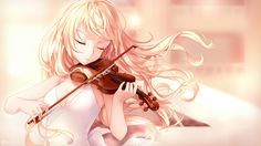 Kaori Miyazono playing the violin  (Your Lie in April) HD Wallpaper From Gallsource.com