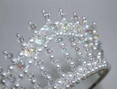 Crystal AB and Pearl Diva Tiara Princess Tiara by CreativeCalling1