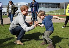 Prince Harry Playing with Harry Phillips at the UK Team Trials for the Invictus Games Toronto
