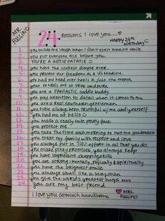 24 reasons I love the birthday boy<3