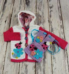 Detské oblečenie - Zmiešaná bundička,čiapka a štucne - 2961127