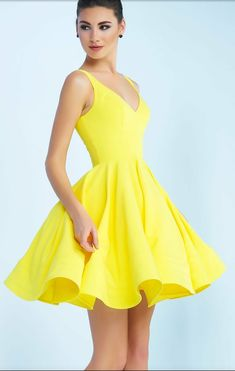 e4b055a9173 Shop short yellow prom dresses and yellow evening gowns for prom at  PromGirl. Two-piece yellow long prom dresses and yellow homecoming dresses.
