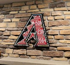 Arizona Diamondback made from expired license plates