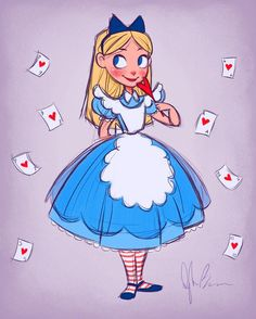Alice in Wonderland #valentinesday piece! ♥️♣️♦️♠️When you buy this new print ($25), you will get any other print of your choice FREE!!!  email me at dylanbonnerart@gmail.com for your prints! #aliceinwonderland