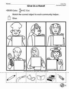Community Helpers Printable Worksheets for Kids - Preschool and Kindergarten Community Helpers Kindergarten, Community Helpers Activities, Kindergarten Social Studies, School Community, Community Helpers For Kids, Kindergarten Worksheets, In Kindergarten, Preschool Activities, Space Activities