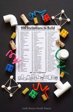 Inspire the kids to create with 100 Invitations to Build, a free printable…