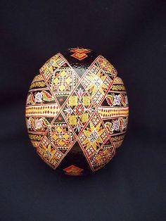 1 Romanian Romania Bucovina Handmade Pysanky Pysanka Easter Ostrich Egg   eBay