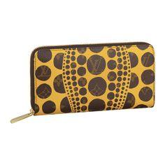 d782c73f4e24 Louis Vuitton Yayoi Kusama Collection Monogram Pumpkin Dots Zippy Wallet -  Jaune I will have this.