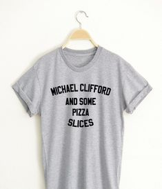 MICHAEL CLIFFORD T shirt Adult Unisex for men and women - Our T Shirts are individually customized and printed for every single order Cute Graphic Tees, Graphic Shirts, Printed Shirts, Funny Shirt Sayings, Shirts With Sayings, Funny Shirts, Michael Clifford, Jake T. Austin, Unisex