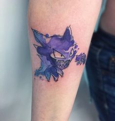 The dream-eater himself #haunter #pokemon #pokemongo #tattoo #tattoos #girlswithtattoos #girlswithink #watercolor #watercolortattoo #watercolour #darkartists #toronto #torontoart #torontoartist #torontotattoo #tattooartist #tattooart #tattoodesign #tattoopins #tattooflash #btattooing #blackworkers #tttism #tatouage #ghost