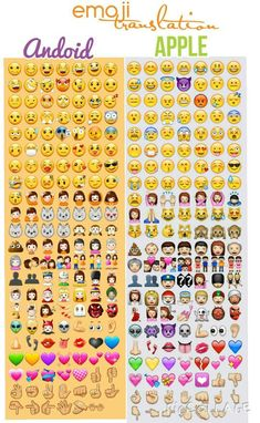 Emoji translation! Android / Apple #emoji #androidvsapple