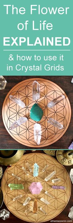 How to use a flower of life crystal grid. #crystalgrid #crystals