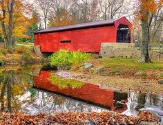 Chester County Pa Art - PA Country Roads- Bartrams / Goshen Covered Bridge Over Crum Creek No.11 Chester / Delaware Counties  by Michael Mazaika