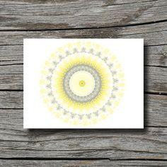 Bohemian decor, grey yellow white, yoga decor, geometric, office, bedroom, bathroom, home decor wall art, dorm decor poster, mandala art on Etsy, $10.00