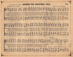 Vintage Graphic - Christmas Sheet Music - The Graphics Fairy