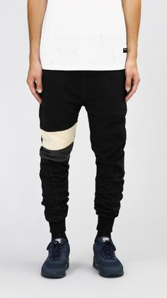 i love ugly - Black Panel Stripe Zespy Track Pant