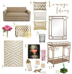 bar carts gold accents - Home Decor Accents