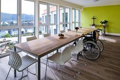 Uni chairs in white with sled base in Hofbieber, Germany. Office, Conference, Hospitality, Interior, Design.
