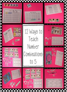 12 ways to teach number combinations to 5