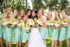 A South Carolina Peach and Mint Wedding