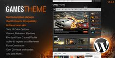 GamesTheme Premium WordPress Theme (Entertainment)