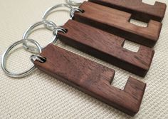 Keyring & Stand for iPhone / Android Walnut Wood by Grantstands