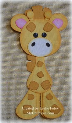Giraffe Premade Scrapbooking Embellishment Paper by MyCraftopia
