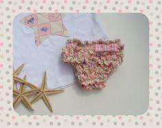 Conjunto Praia/ 3 Meses*Tanga de banho de favinhos * e * T-Shrit Estrela*
