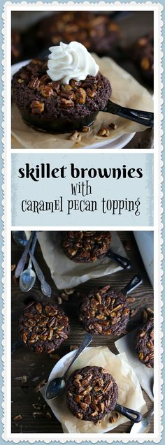 These skillet brownies are gooey, warm, chocolatey, with a nutty caramel crunch. I like to call them simply...nirvana.