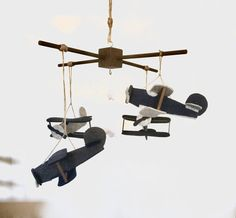 Hey, I found this really awesome Etsy listing at https://www.etsy.com/listing/494382807/vintage-airplane-mobile-biplane-crib