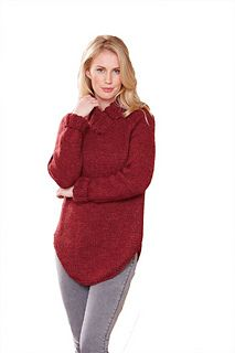 Berry beautiful knit this delightful Yeoman Yarns sweater with our knitting pattern