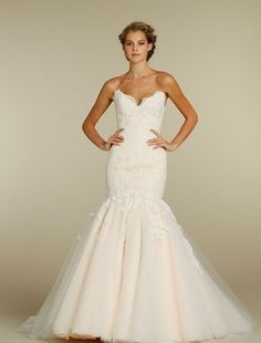 Bridal Gowns: Jim Hjelm Mermaid Wedding Dress...LOVE his gowns...
