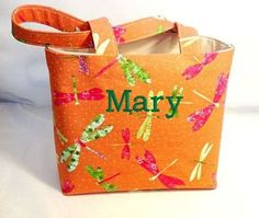 Tote Bag Fabric Custom Made Tote  by RidgeTopEmbroidery on Etsy, $22.00