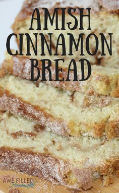 When it comes to bread, not much comes to mind that compares to the mouth-watering taste of Amish Friendship Bread-except Amish Cinnamon Bread! YUMMM via (Amish Cinnamon Rolls) Delicious Desserts, Dessert Recipes, Yummy Food, Cake Candy, Amish Friendship Bread, Breakfast Desayunos, Bread Machine Recipes, Amish Bread Recipes, Breakfast Bread Recipes