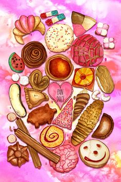 Fast recipes # café café y pan dulce, how to make pan dulce, keto pan d . Mexican Sweet Breads, Mexican Bread, Mexican Dinner Recipes, Food Wallpaper, Wallpaper Iphone Cute, Mexico Wallpaper, Pan Dulce Types, Mexican Bakery, Sweet Like Candy