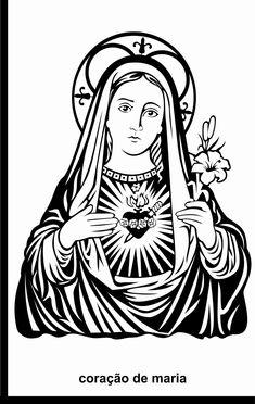 coração de maria vetorizado.  by renzo