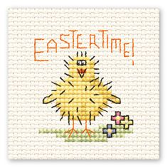 Mini Cross Stitch Easter Chick from Hobbycraft - a bargain £1.30!