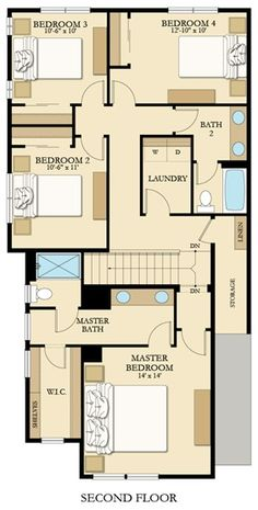 Tamarack Daylight Ranch Floor Plan Master On The Main With