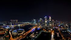 Gece Görüntüsü ULTRA HD - Singapur