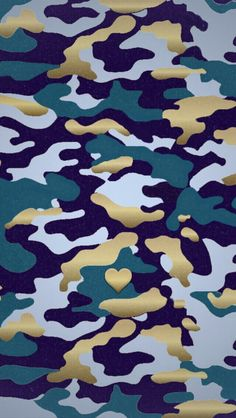 Navy Blue gold heart Camoflage camo iphone phone background wallpaper lock screen