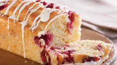 Bake these citrusy mini loaves made using cranberries and Gold Medal® all-purpose flour – decorated with Betty Crocker® Rich & Creamy vanilla frosting.